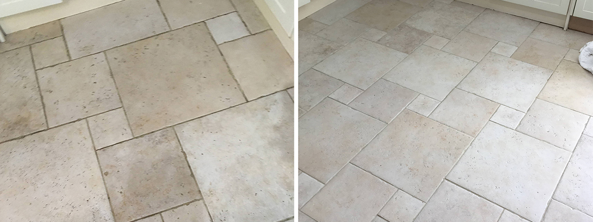Porcelain Tile and Grout Cleaned in Shepperton Kitchen