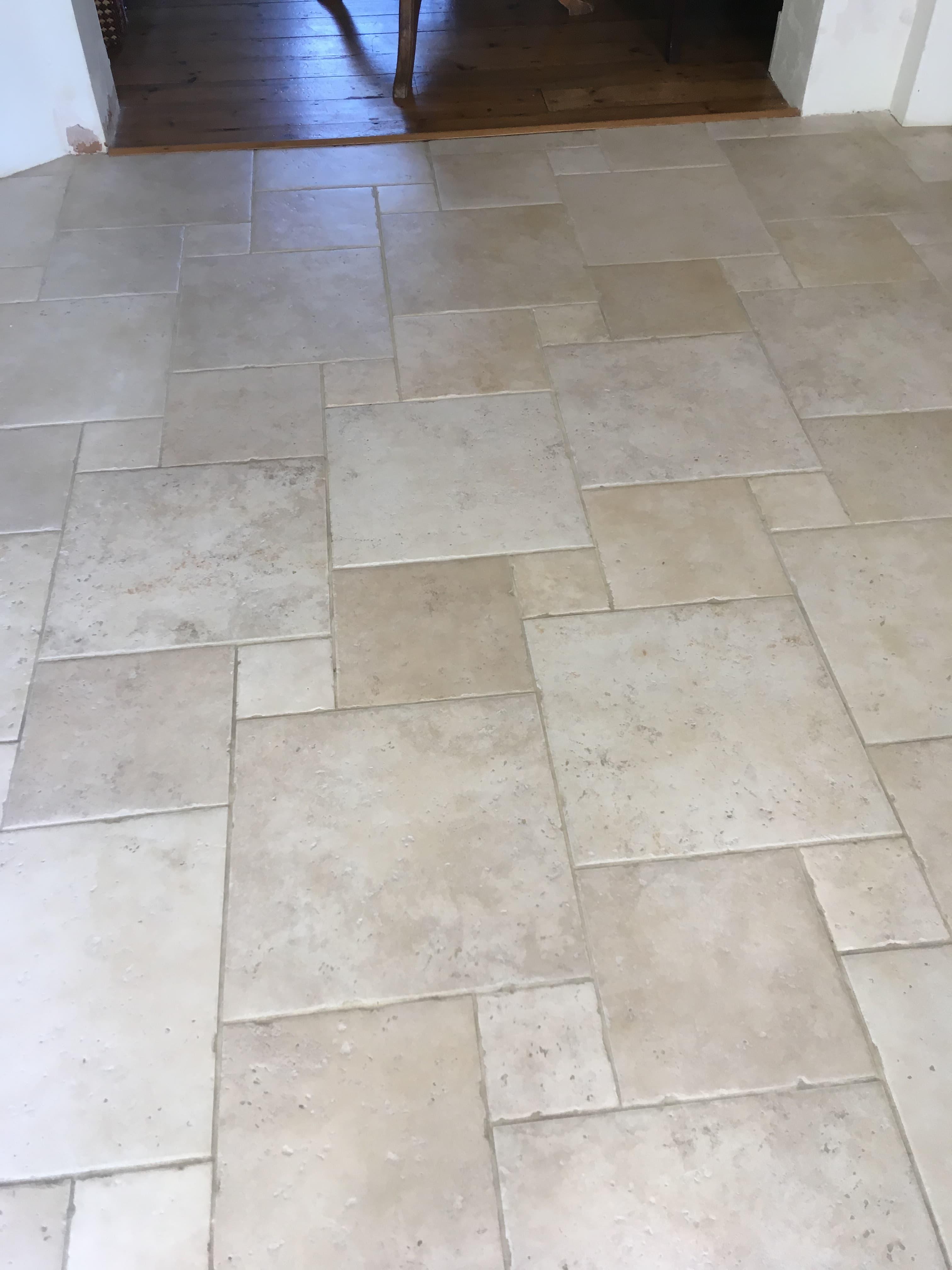 Porcelain Tile  Floor After Cleaning Sealing Shepperton
