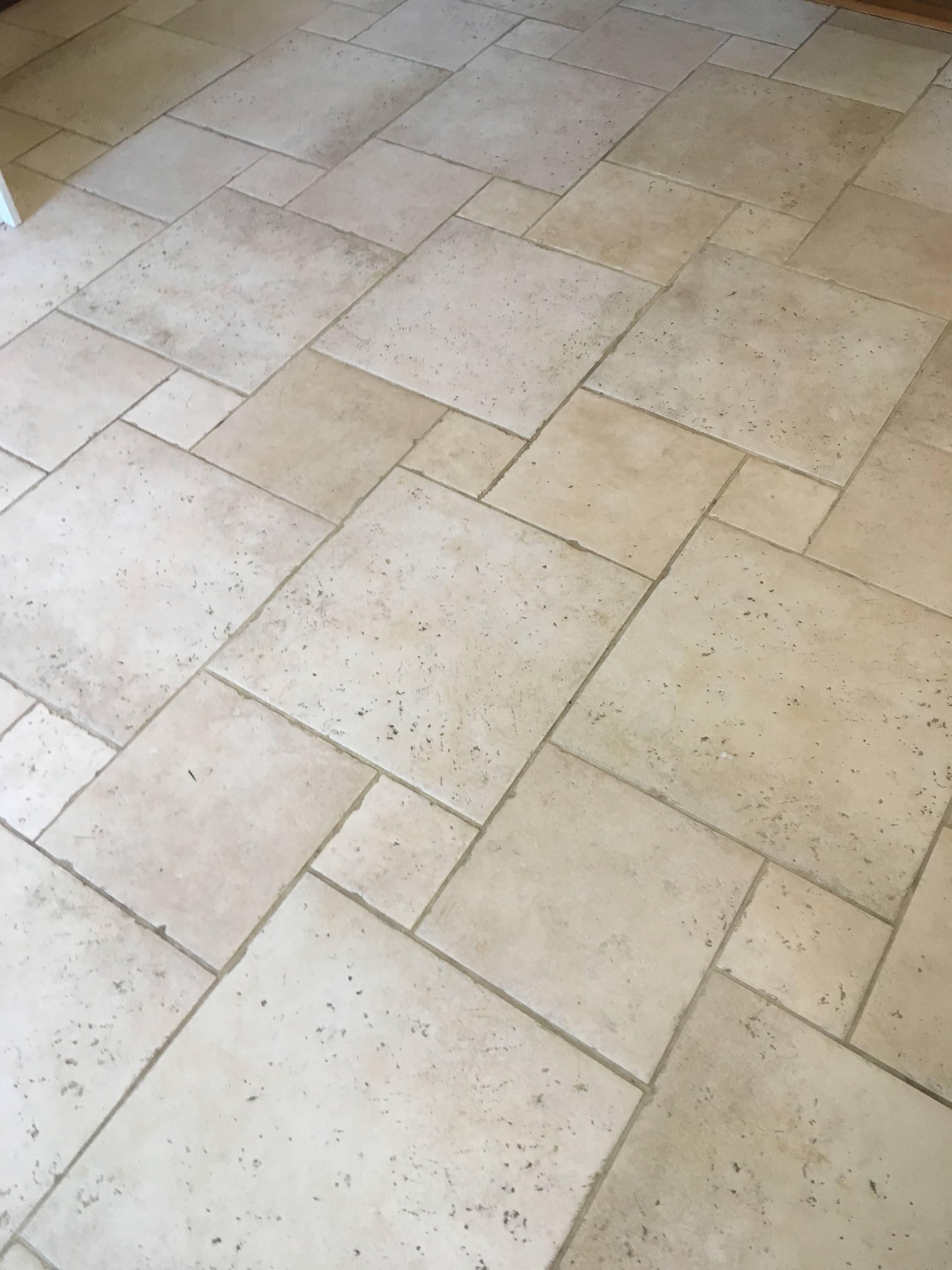 Porcelain Tile  Floor Before Cleaning Shepperton
