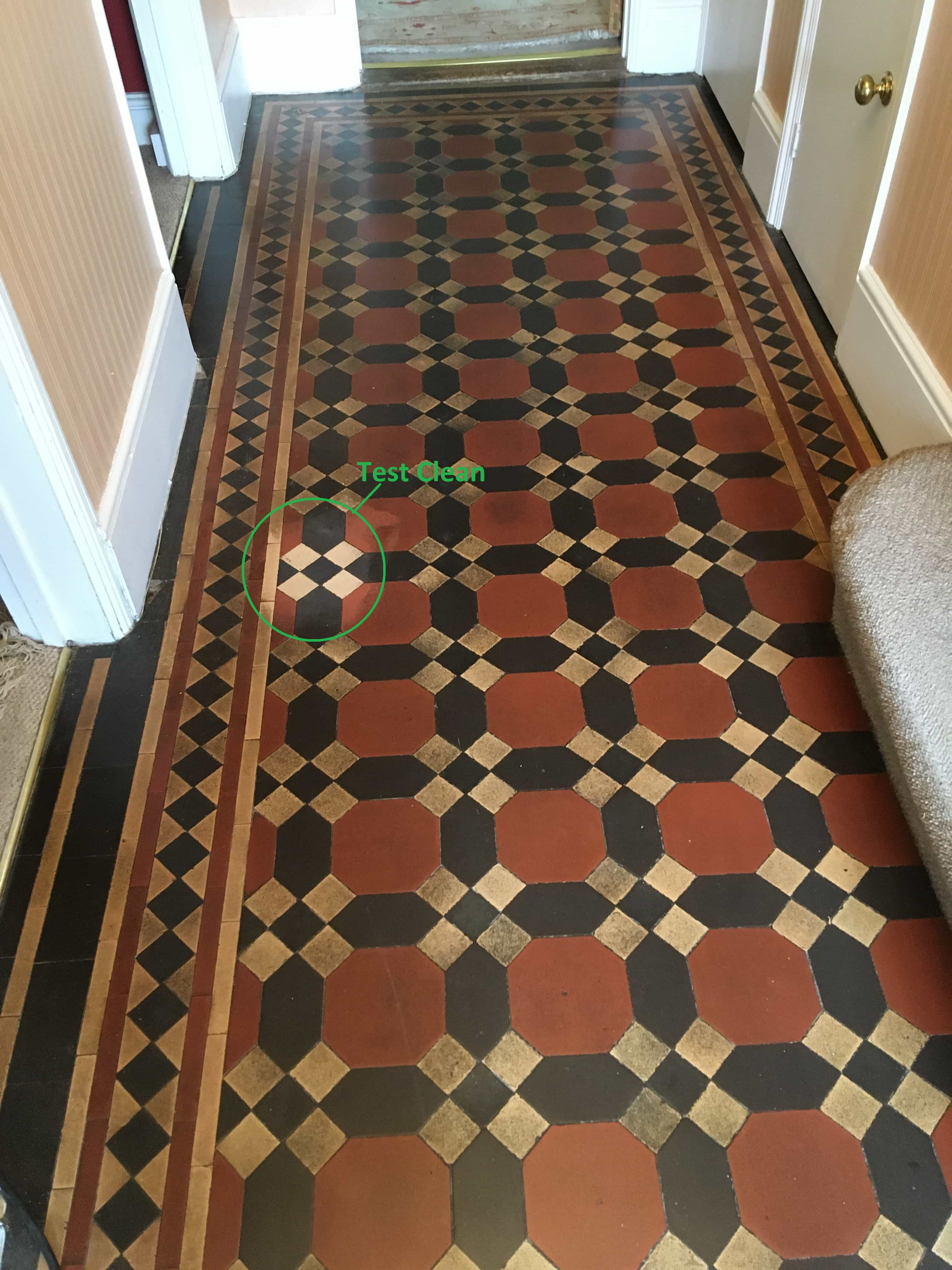 Dirty Victorian Floor Before Cleaning Twickenham