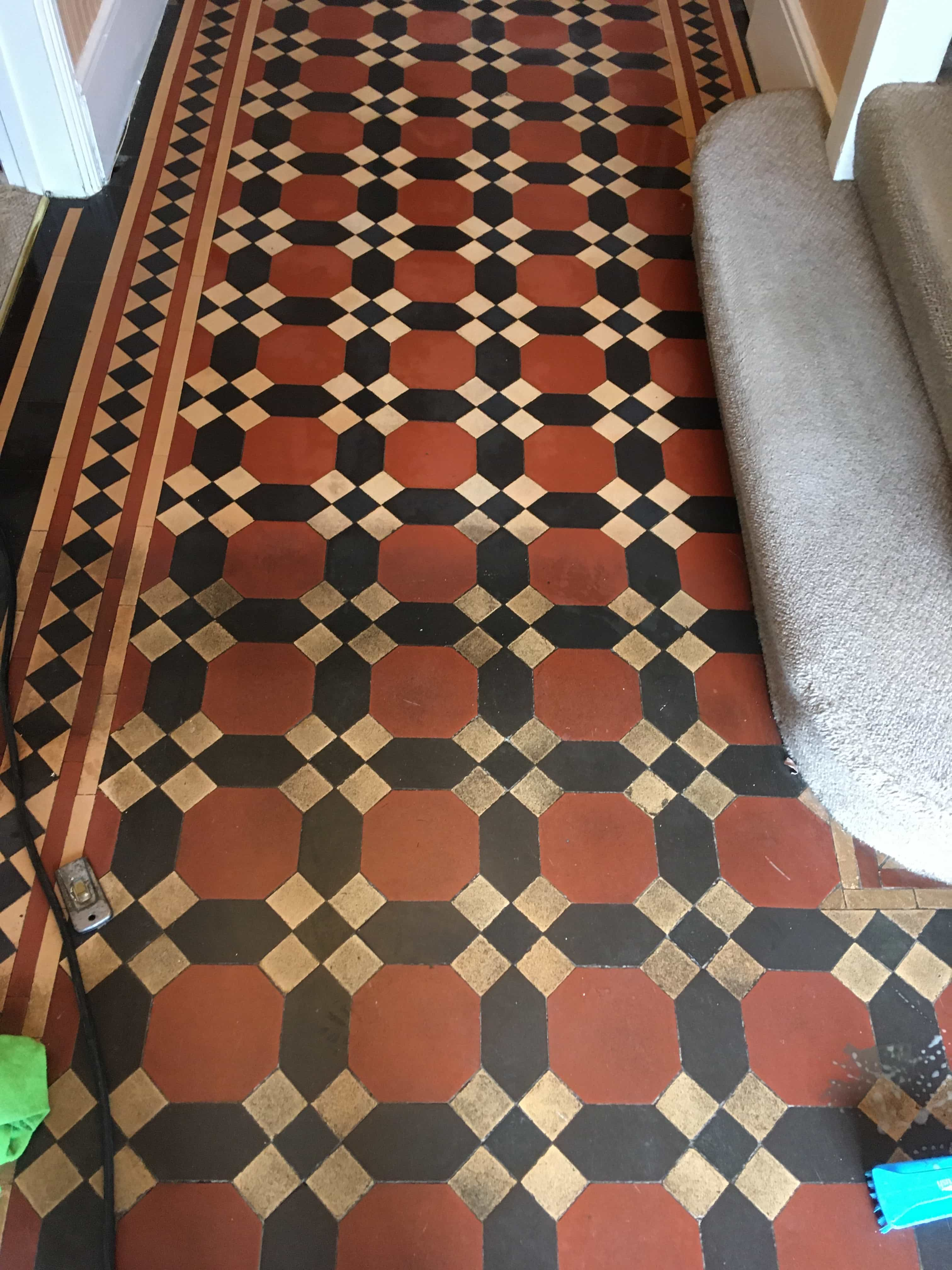 Dirty Victorian Floor During Cleaning Twickenham