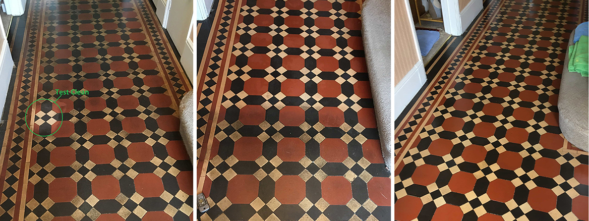 Victorian Hallway Floor Deep Cleaned and Sealed in Twickenham
