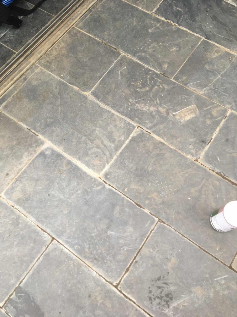 Slate Patio Before Cleaning Twickenham